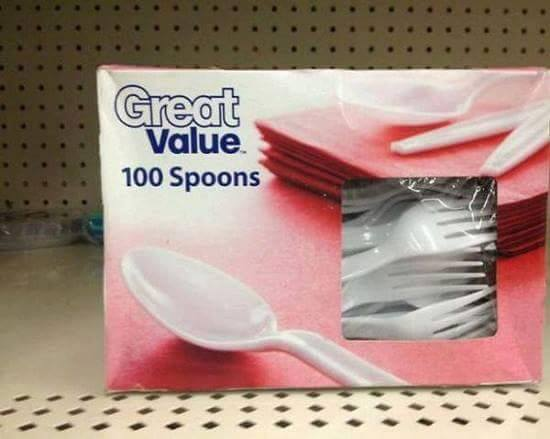 100 Spoons... Maybe not