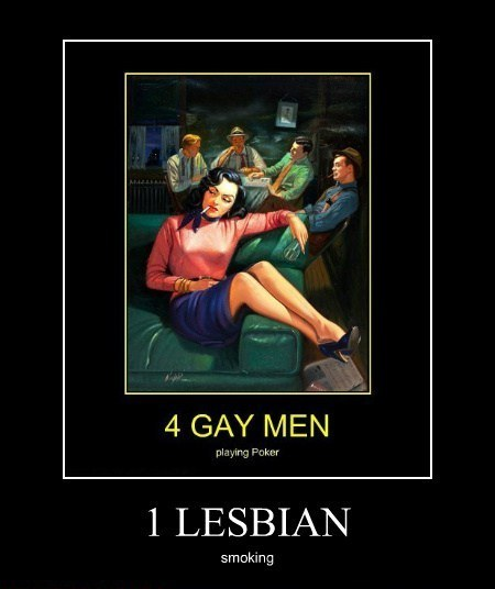 4 Gay men and a Lesbian