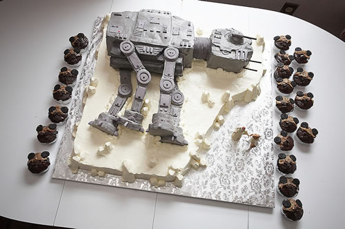 AT-AT Wedding Cake