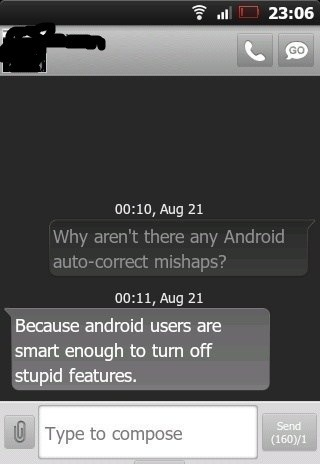 Android Auto corrects
