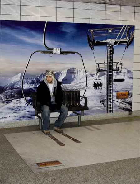 Awesome bench as a chair lift