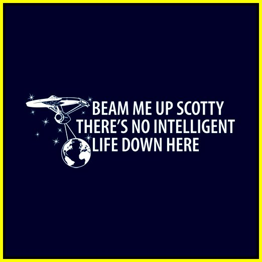 Beam me up Scotty....