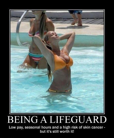 Being a lifeguard...
