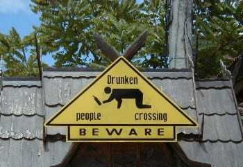 Beware of Drunken people crossing