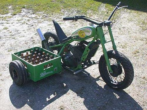 Bike with Sidecar Crate
