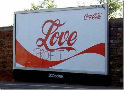 Billboard Graffiti Coke