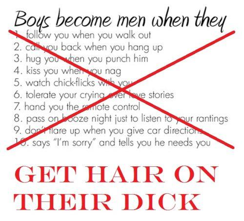 Boys Become Men When...