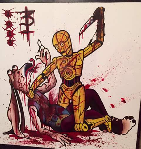 C-3PO Killing Jar Jar Binks