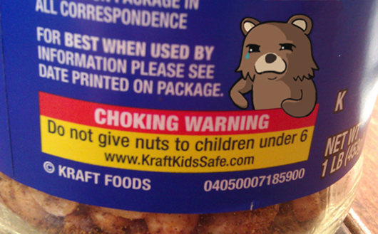 Choking Warning