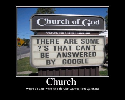 Church Google couldnt help can you