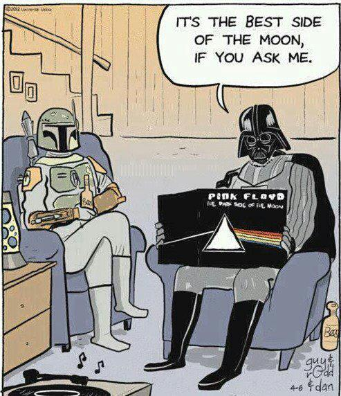 Darth Vader Approves Of Pink Floyd