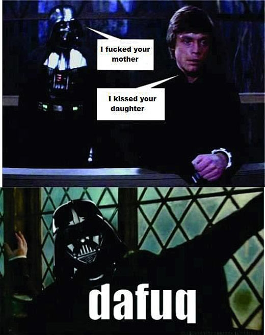 Darth Vader vs Luke Skywalker....