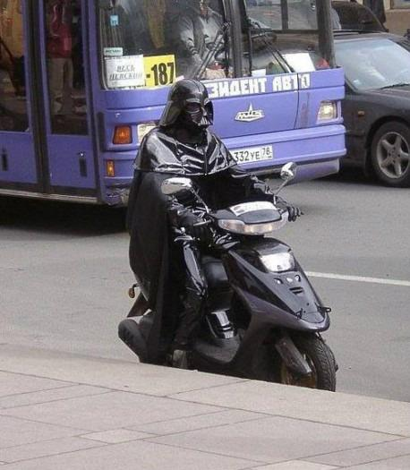 Darth on a scooter Seems legit