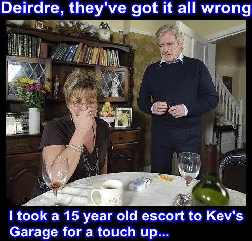 Deirdre they've got it all wrong