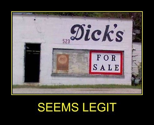 Dicks for sale - Seems legit