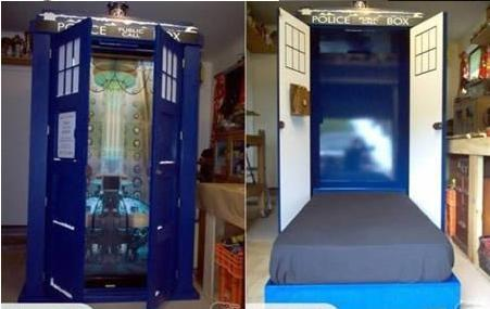 doctor who tardis bed imghumour