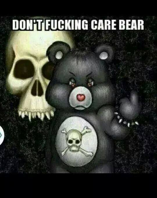 Don't fucking care bear