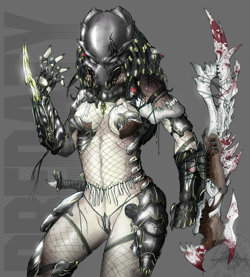 Monster aliens and female warriors sexy photo