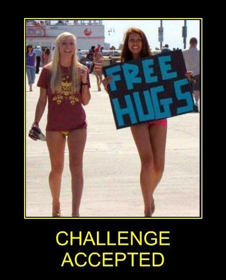 Free Hugs Challenge Accepted