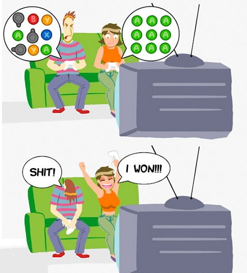Gaming against girlfriend