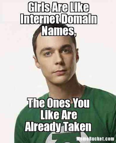 Girls are like internet domain names