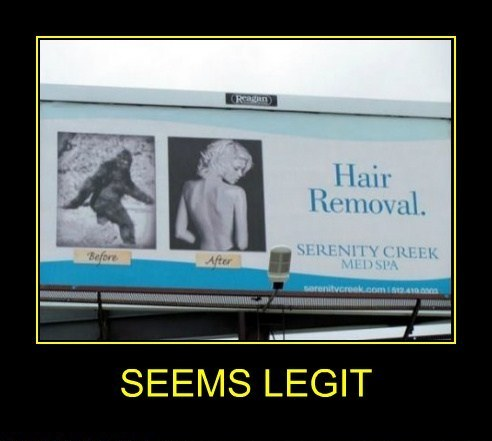 Hair Removal Seems Legit