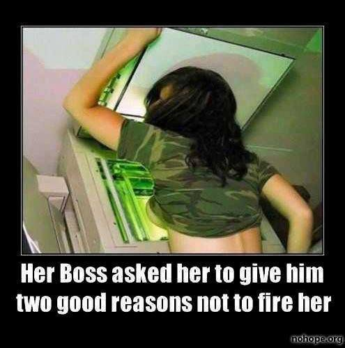 Her boss asked for for two reasons not to fire her