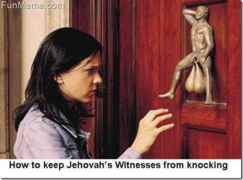 How to keep Jehovahs Witnesses From Knocking