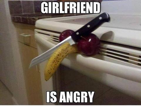 How to tell if your girlfriend is angry