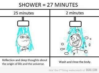 How we shower