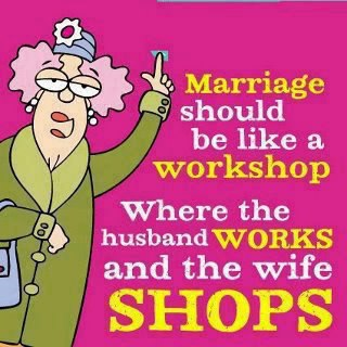 Husband Works wife shops