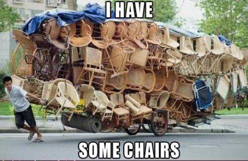 I have some chairs