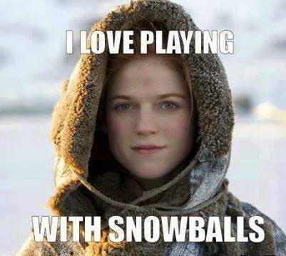I love playing with snowballs