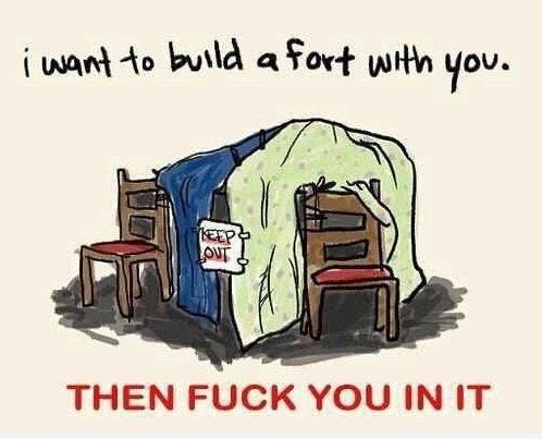 I want to build a fort with you