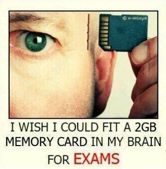I wish i could fit a 2GB memory card in my brain