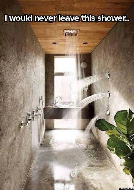 I would never leave this shower
