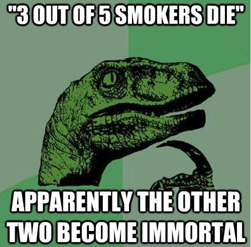 If 3 out of 5 Smokers die
