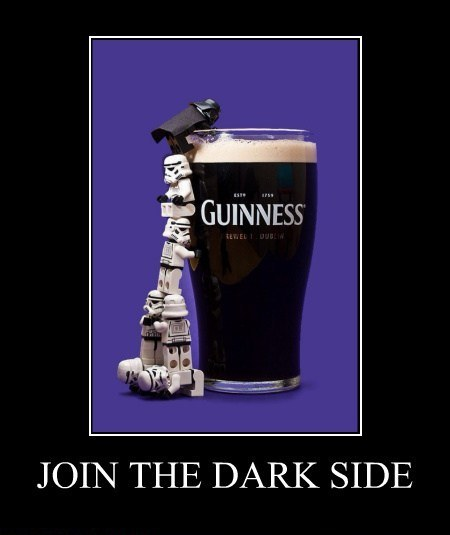 Join the dark side in Guinness