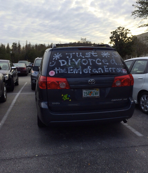 Just divorced, The end of an Error