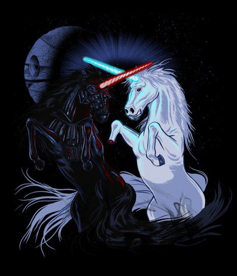Light vs Dark Unicorn Fight