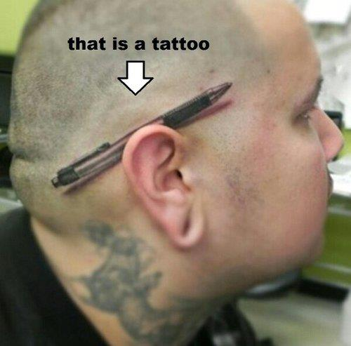 Mind blowing tattoo