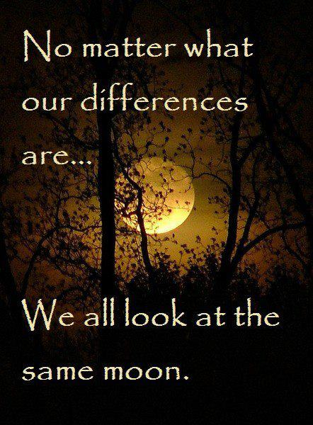 No Matter What Our Differences Are...