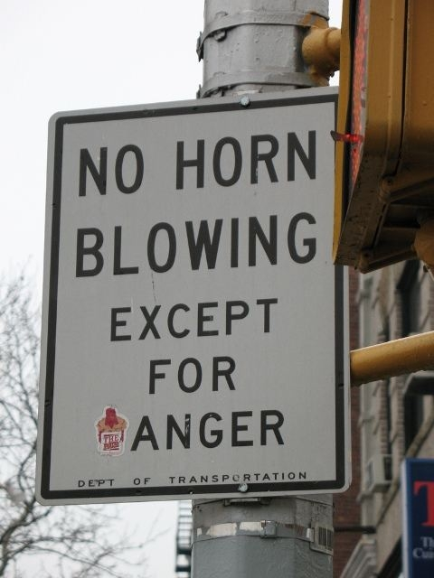 No horn blowing