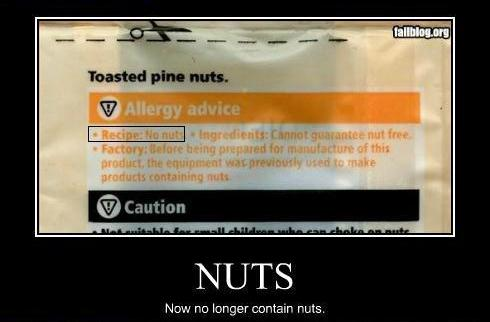Nuts no longer contain nuts