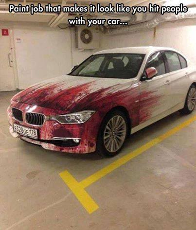 Paint job on the car
