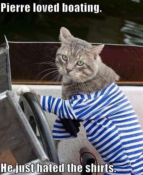 Pierre loved boating