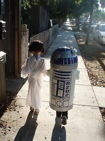 Princess Leia and R2D2