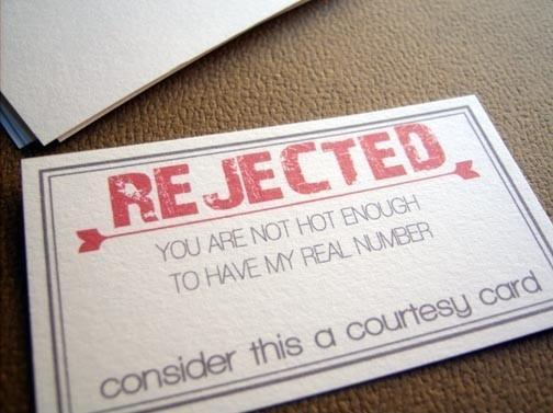 Rejected Card