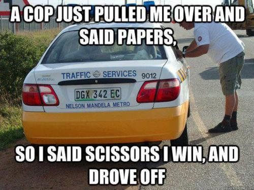 Rock Paper Scissors dont work with the police