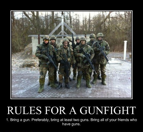 Rules for a gun fight